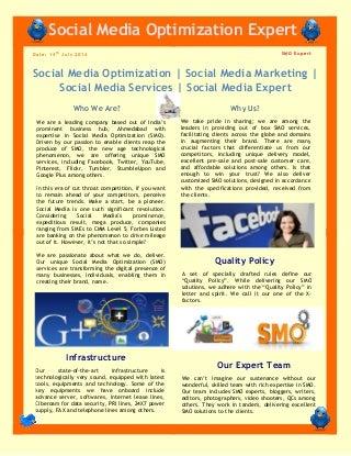 Social Media Optimization and Social Media Marketing Services