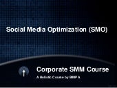 Social Media Optimization (SMO) Checklist and Activities - What You Need to do to Make Your Site Social Media Friendly