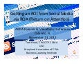 Social Media ROI from ROA - AICPA FVS Conference