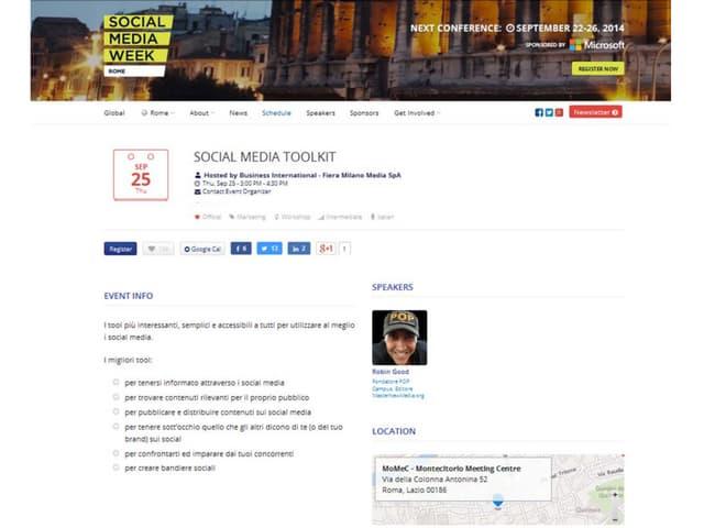 Social Media Toolkit - 20 ottimi servizi per chi fa comunicazione e marketing sui social SMWRME