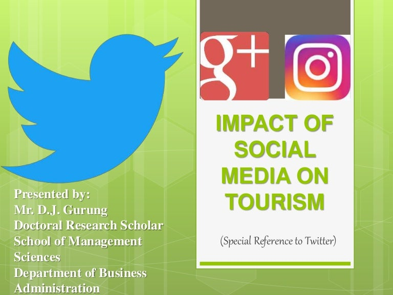 value of social media for tourism We formulate value propositions for various stakeholders in the ecosystem abstract in this article, we demonstrate the potential value that the spatial and semantic analysis of social media messages can provide to smart tourism ecosystems.