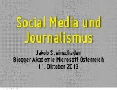 Social Media und Journalismus - Jakob Steinschaden
