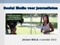 Social Media voor journalisten