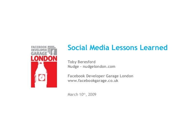 Social Networking World Forum Social Media Lessons Learned