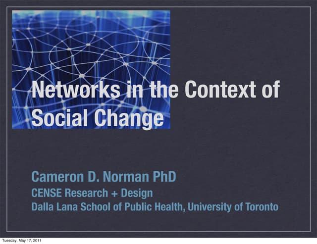 Social Networks4 Change