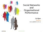 Social Networks and Organisational Performance