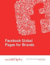 Facebook Global Pages for Brands