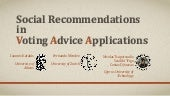 Social Recommendations in Voting  Advice Applications