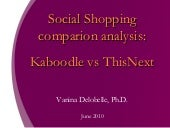Social shopping Comparison Analysis Kaboodle vs ThisNext