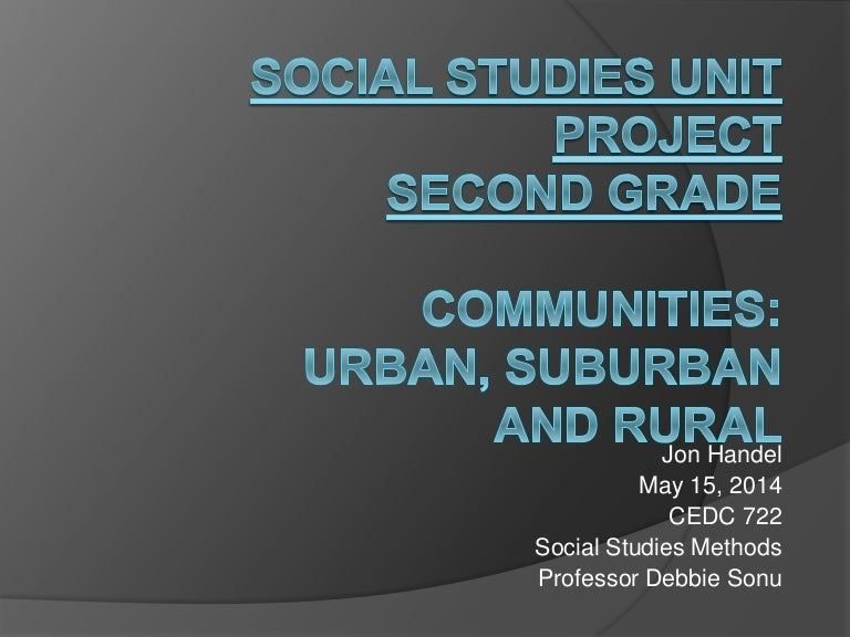 Social Studies Unit Communities Urban Suburban Rural Second