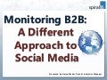 Monitoring B2B: A Different Approach to Social Media