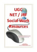 UGC/NET/JRF-Social Work Syllabus and Resource Links