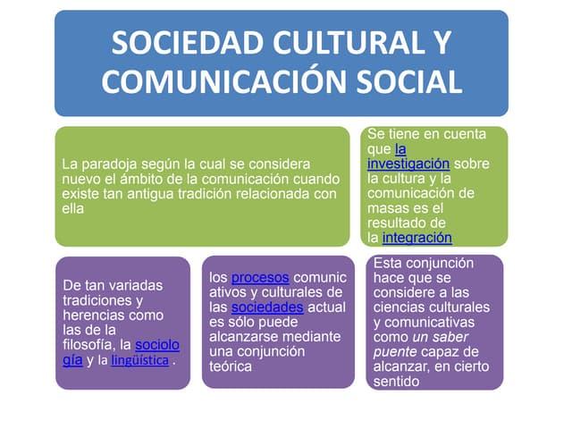 Sociedad cultural y comunicacion social