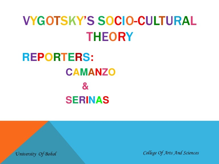 Socio Cultural Theory by Lev Vygotsky
