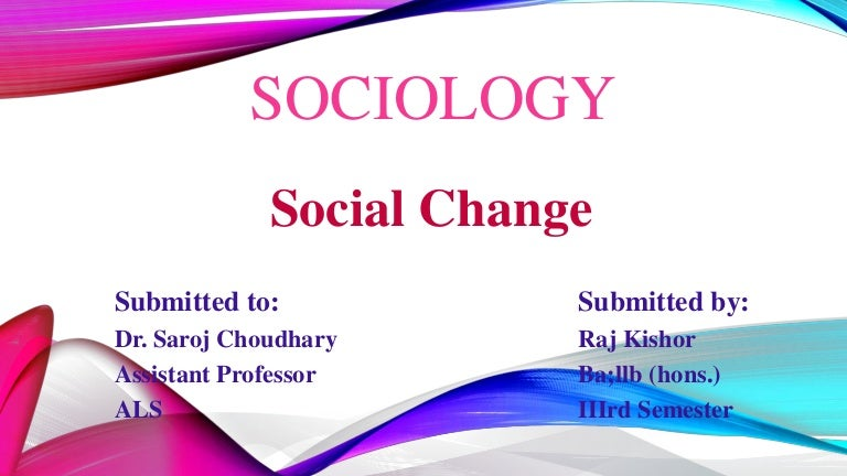 causes of social change in nigeria