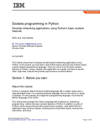 Socket Programming In Python