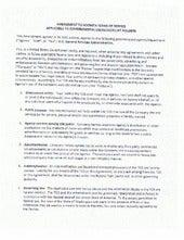 Socrata Terms of Service (TOS) Amendment