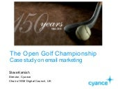 """Case study from EME2001 - Sodexo and Open Golf """"best use of email"""""""