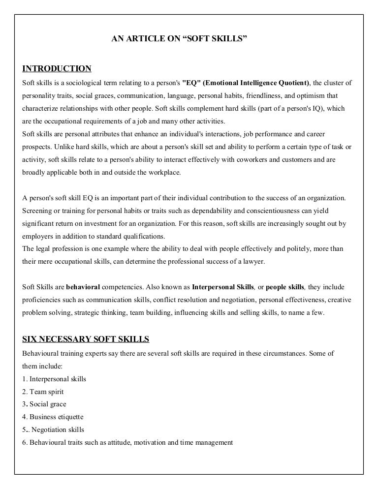 SlideShare  Hard Skills For Resume