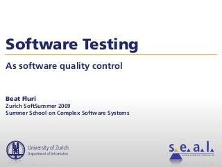 Seminar on Software Testing