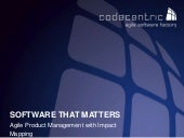 Software That Matters - Agile Product Management with Impact Mapping