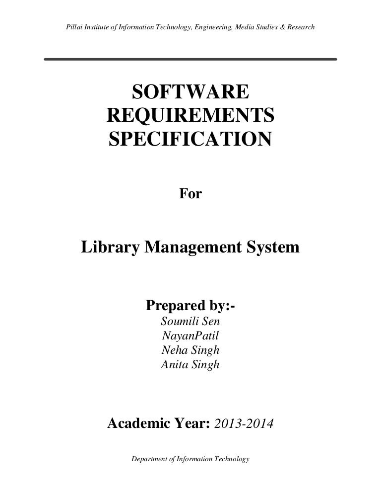 Software Design Specification For Hospital Management System