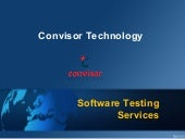 Software Testing Services - Convisor Technology