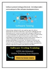 Software testing training in kolkata
