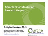 Altmetrics for Measuring Research Output