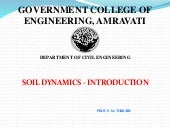 Soil dynamics introduction