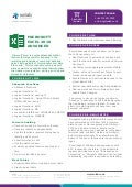 Microsoft Excel 2016 Advanced - Training Course Profile - Solab IT Services in Aberdeen