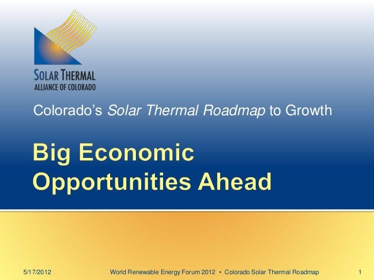 Colorados Solar Thermal Roadmap To Growth Big Economic Opportunitie - Roadmap colorado