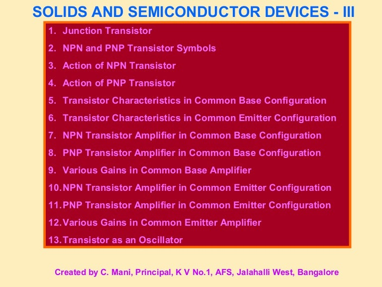 Semiconductor Devices Class 12 Part 3