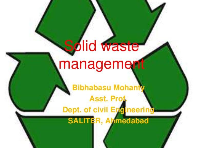 Solid waste management – Waste Management Ppt
