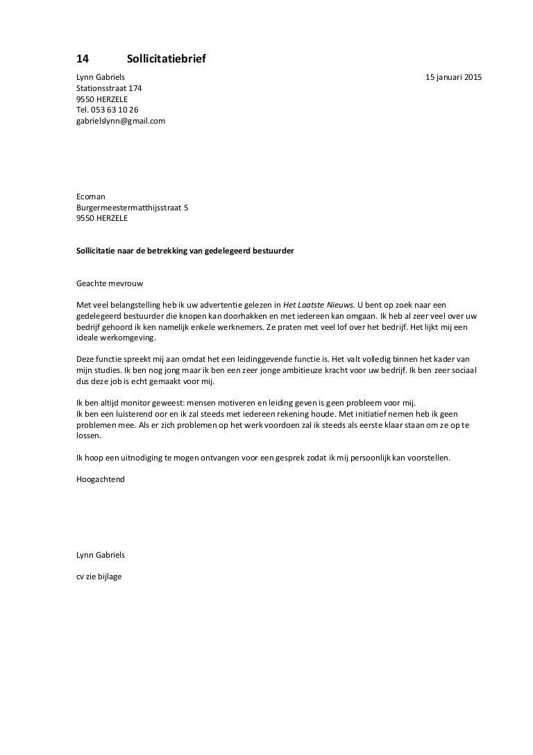 sollicitatiebrief voorstellen Sollicitatiebrief 2 sollicitatiebrief voorstellen