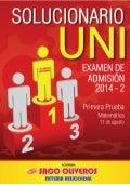 Solucionario UNI- 2014-2 - Matemática