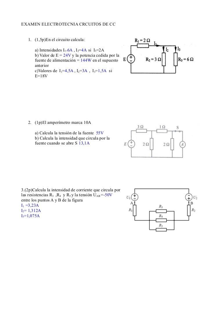 Circuito Cc : Solucion examen cc