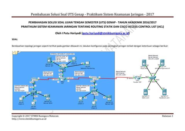 Solusi UTS Genap Praktikum Sistem Keamanan Jaringan - STMIK Bumigora