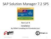Solution Manager 7.2 SAP Monitoring - Part 1 (Setup)