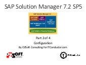 Solution Manager 7.2 SAP Monitoring - Part 2 - Configuration