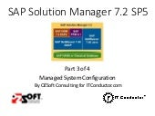 Solution Manager 7.2 SAP Monitoring - Part 3 - Managed System Configuration