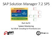 Solution Manager 7.2 SAP Monitoring - Part 4 - System Monitoring