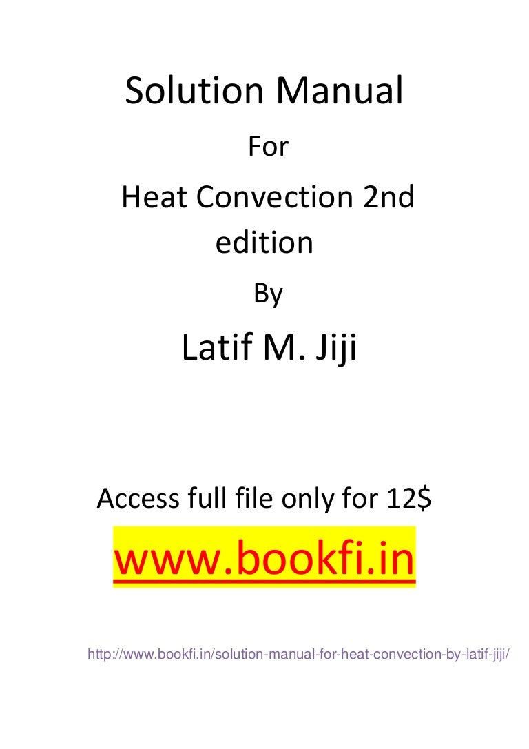 Wrg 2228 Heat Convection Jiji Solutions Manual 2019 Ebook Library