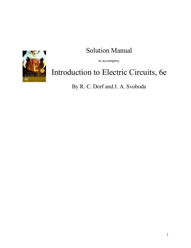 solution manual for introduction to electric circuitsCircuit Shown In Figure 3201 The Circuit Has Two Starting Resistor #17