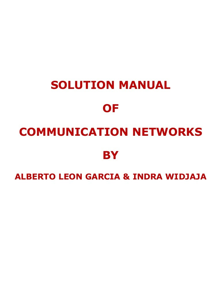 Networks ebook leon garcia communication