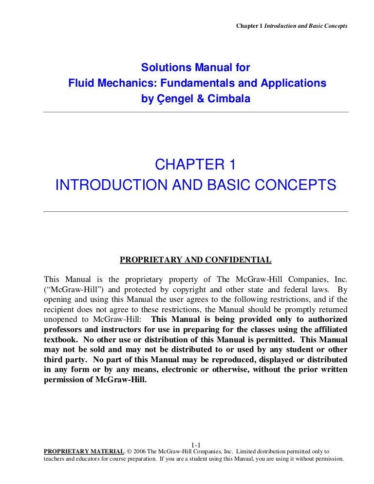 solution manual of fluid mechanics fundamentals and applications rh slideshare net engineering fluid mechanics solution manual 9th edition pdf engineering fluid mechanics solutions manual pdf