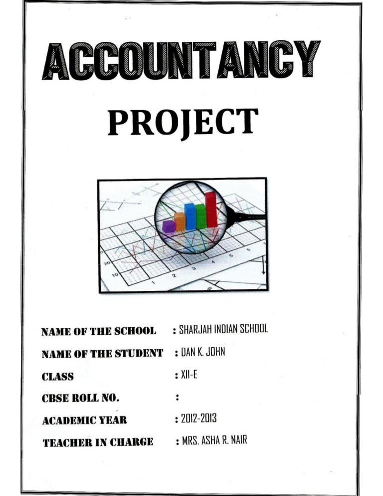 Solved Comprehensive Project Cbse Class 12 Accountancy Project
