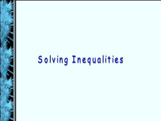 Solving Inequalities (Algebra 2)