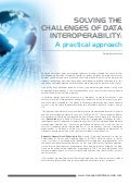 Solving the Challenges of Data Interoperability - A practical approach