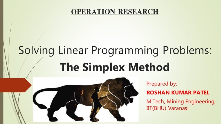 research paper on linear programming In this paper, we analyze and collect constraints employed from a number of research papers towards constructing a general model for university course timetabling.